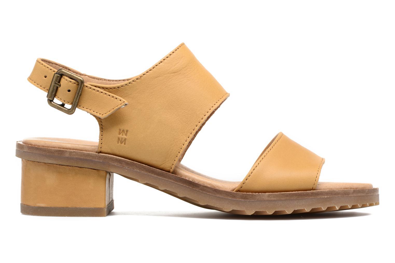Sandales et nu-pieds El Naturalista Sabal N5010 Jaune vue derrière