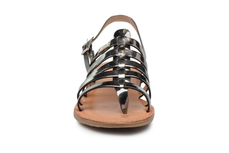 Sandales et nu-pieds Les Tropéziennes par M Belarbi Hemir Argent vue portées chaussures