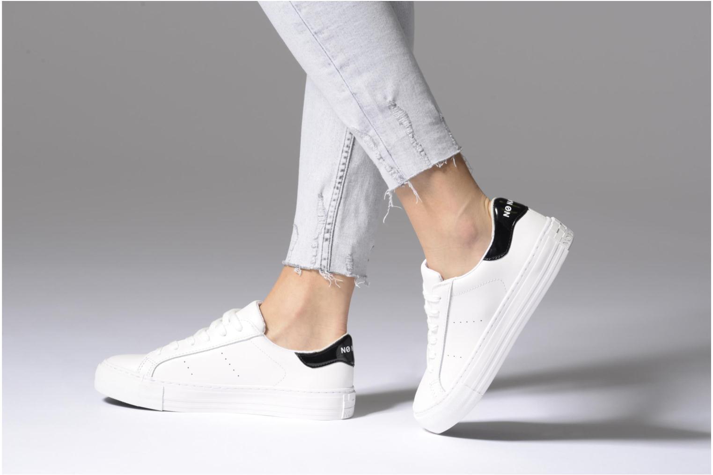Baskets No Name Arcade Sneaker Nappa Blanc vue bas / vue portée sac