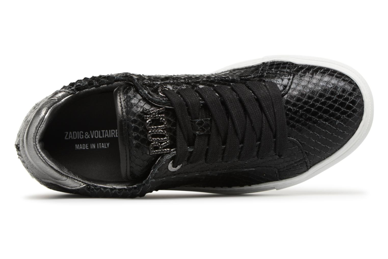 Trainers Zadig & Voltaire ZV1747 KEITH Black view from the left