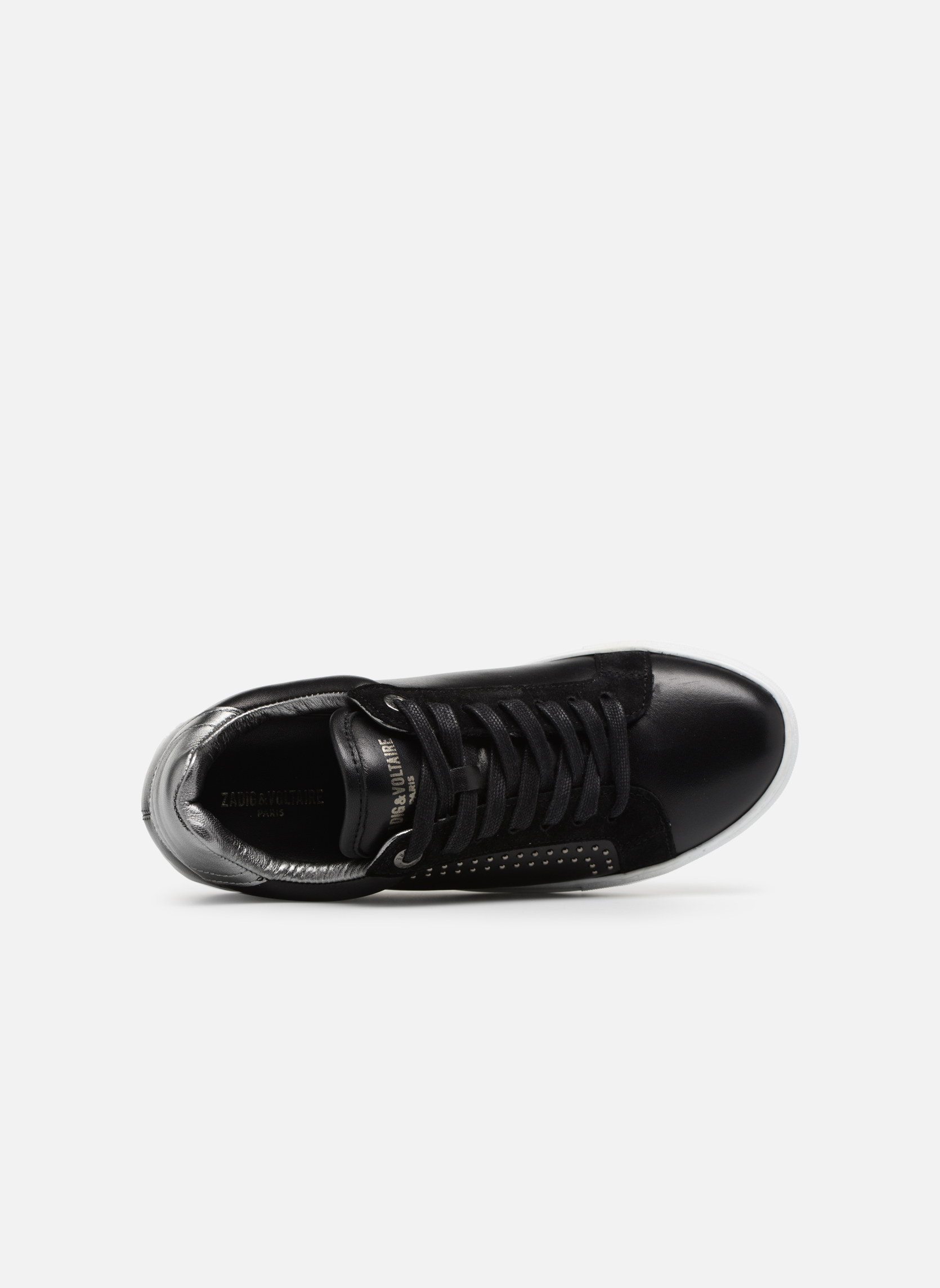 Trainers Zadig & Voltaire ZV1747 SKULLS Black view from the left