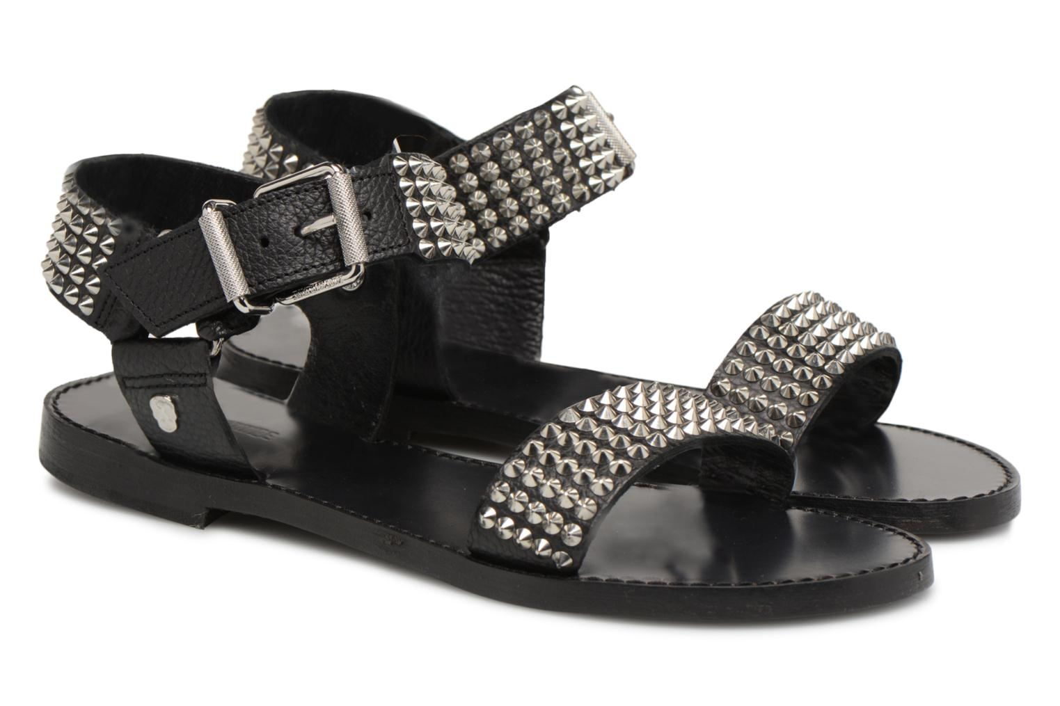 Sandals Zadig & Voltaire ROMAN Black 3/4 view