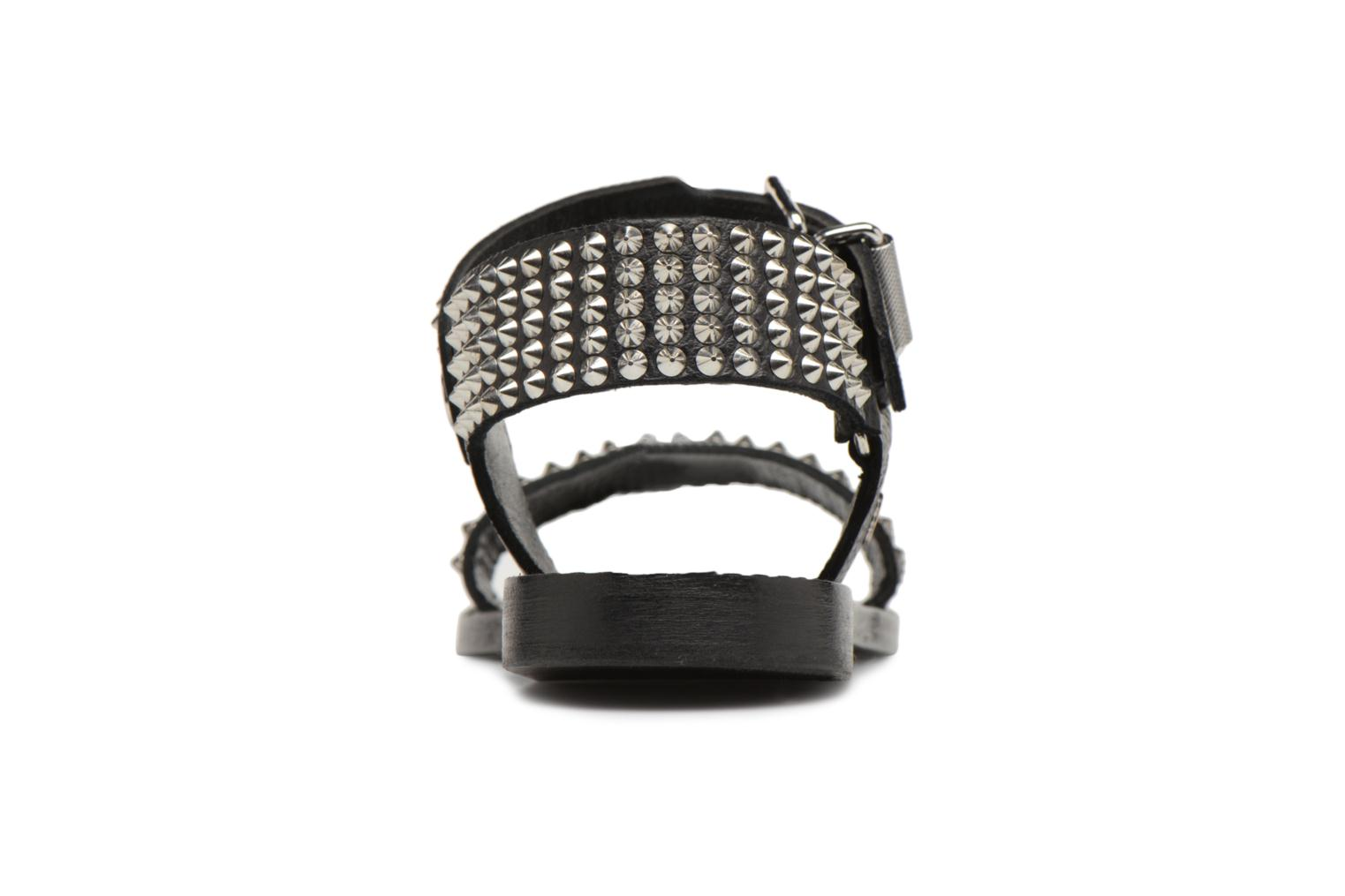 Sandals Zadig & Voltaire ROMAN Black view from the right