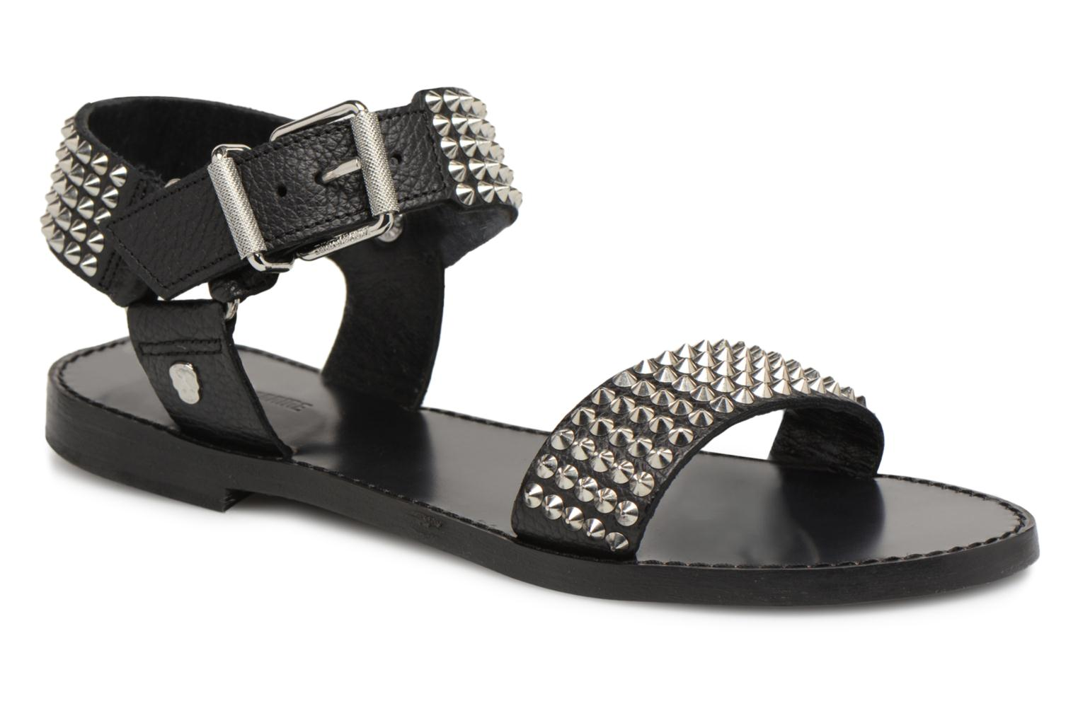 Sandals Zadig & Voltaire ROMAN Black detailed view/ Pair view