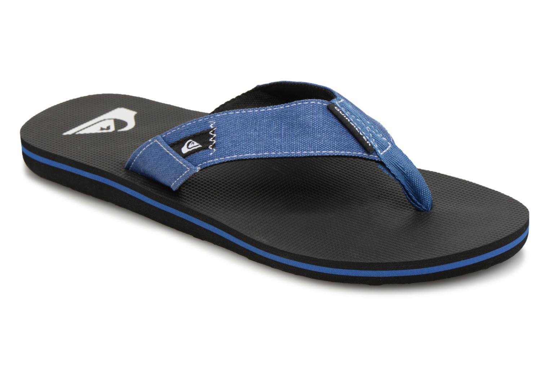 Flip flops Quiksilver Molokai Abyss Blue detailed view/ Pair view