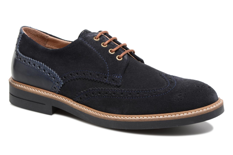 Schmoove Crew Perfo Suede (Bleu) - Chaussures à lacets chez Sarenza (315489)