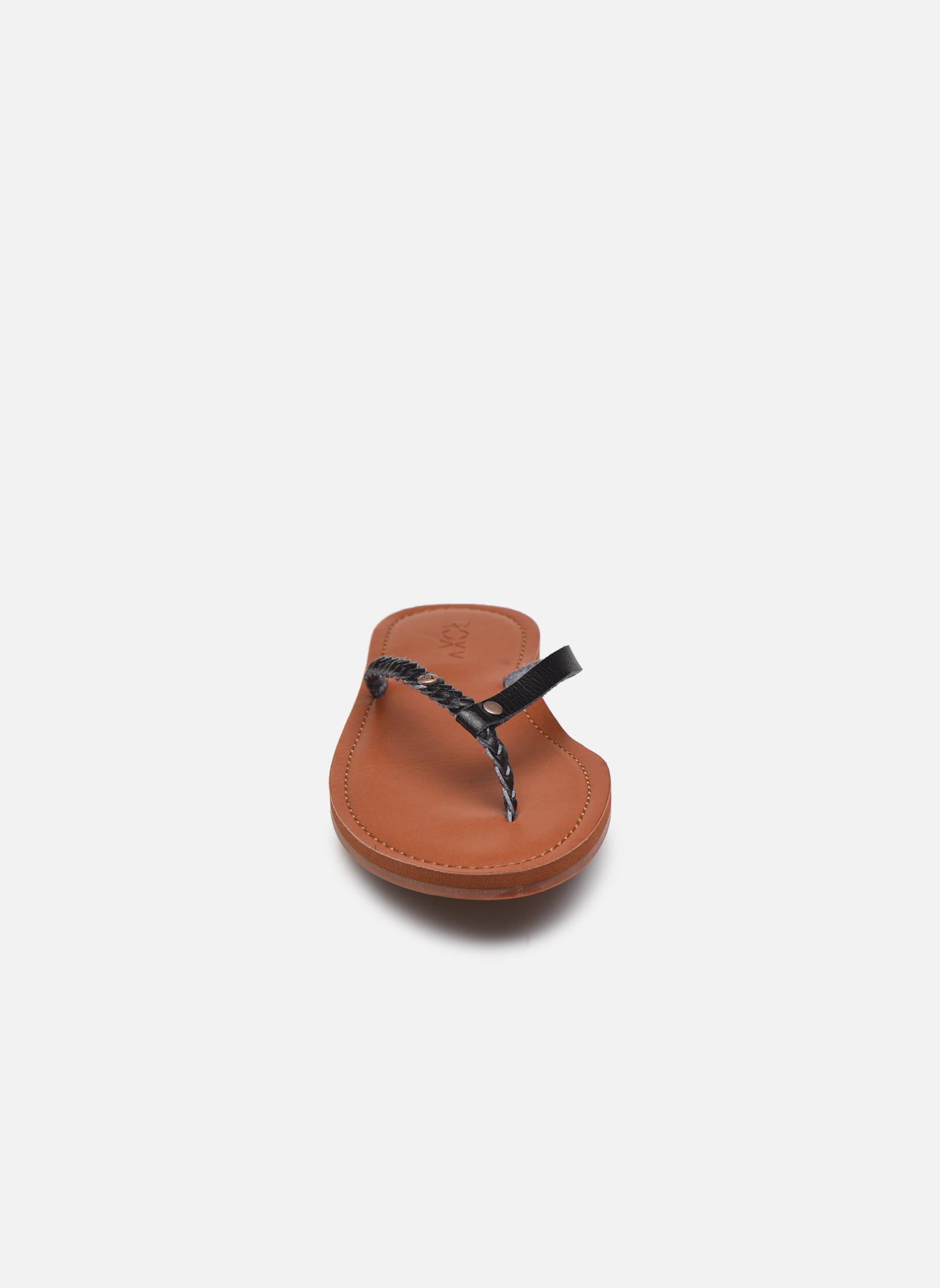 Tongs Roxy Livia Noir vue portées chaussures