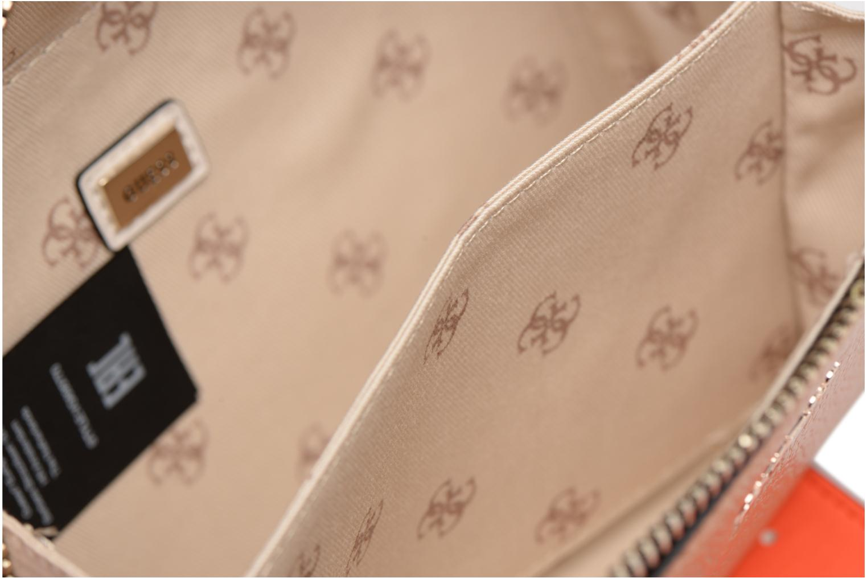 Handtassen Guess Dania Mini Crossbody Top Zip Bruin achterkant