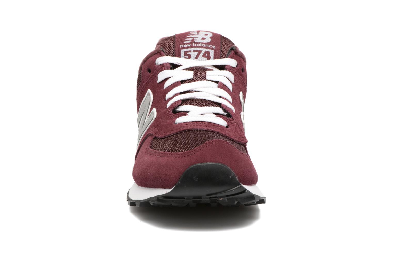 Baskets New Balance M574 W Bordeaux vue portées chaussures