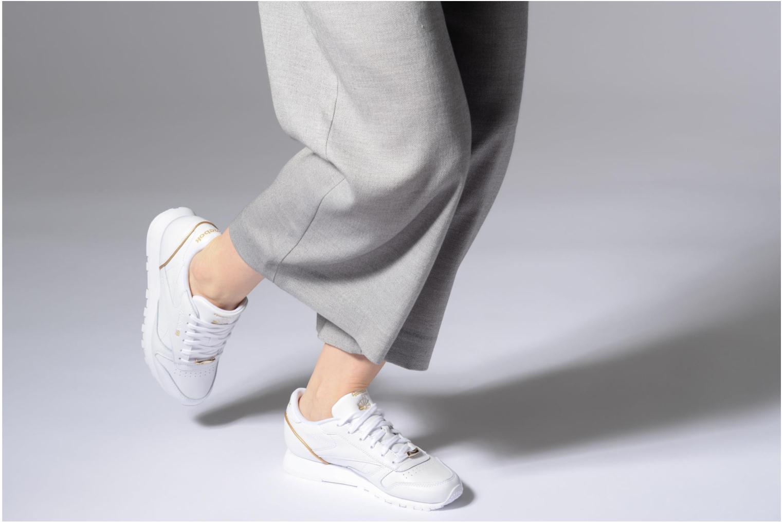 White/Sleek Met Reebok Classic Leather Hw (Blanc)