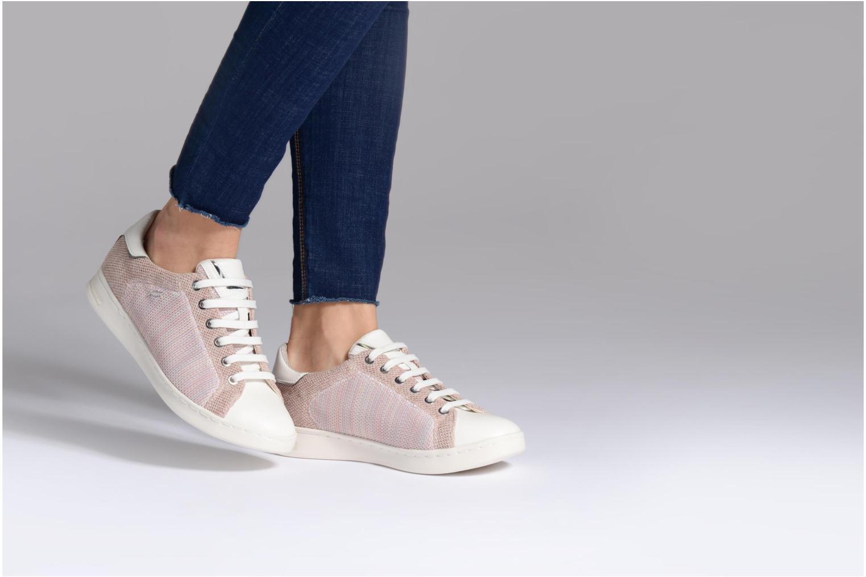 Sneaker Geox D JAYSEN A D821BA beige ansicht von unten / tasche getragen