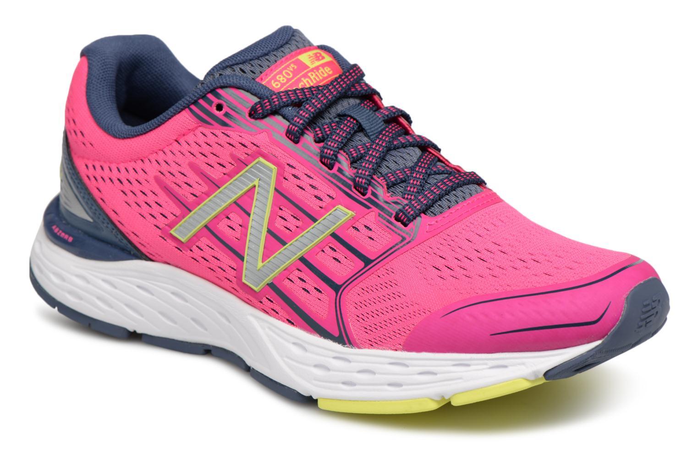 New Balance W680L (Rose) - Chaussures de sport chez Sarenza (316248)