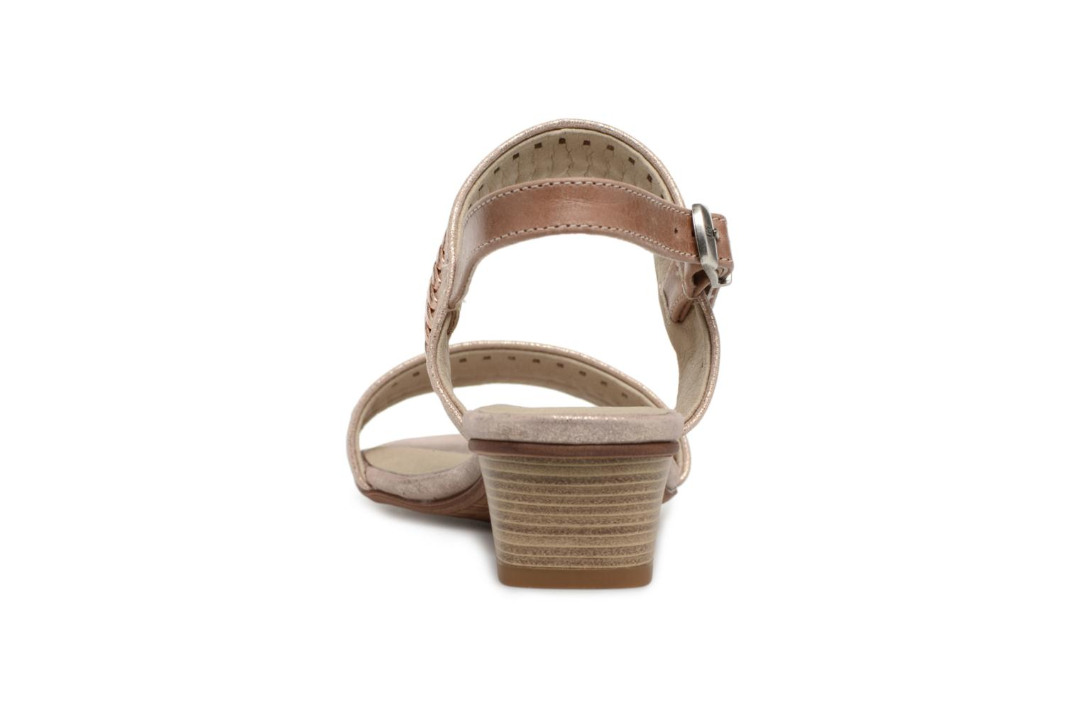 Sandals Dorking Lovi 7533 Bronze and Gold view from the right