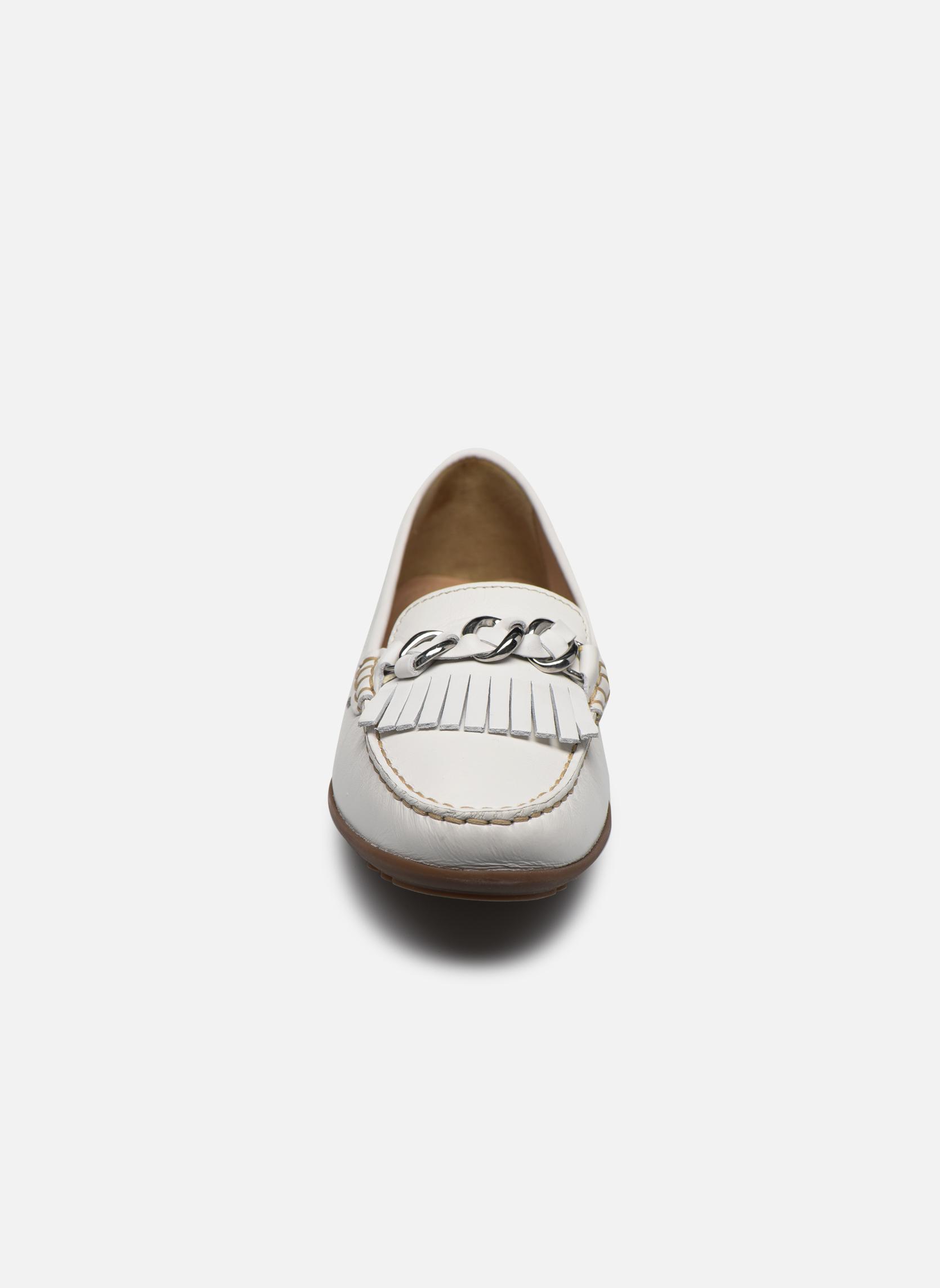 Mocassins Geox D ELIDIA A D822TA Blanc vue portées chaussures