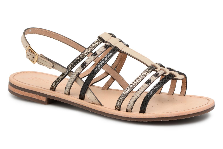Sandales et nu-pieds Geox D SOZY H D822CH Noir vue détail/paire