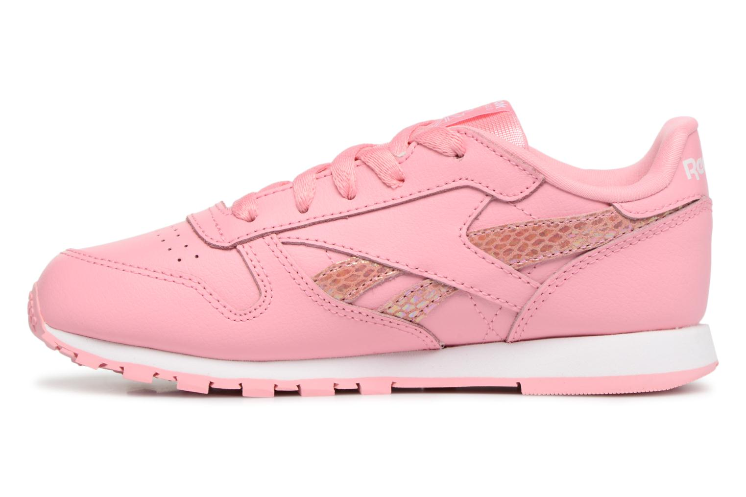 Sneakers Reebok Cl Leather Spring Rosa immagine frontale