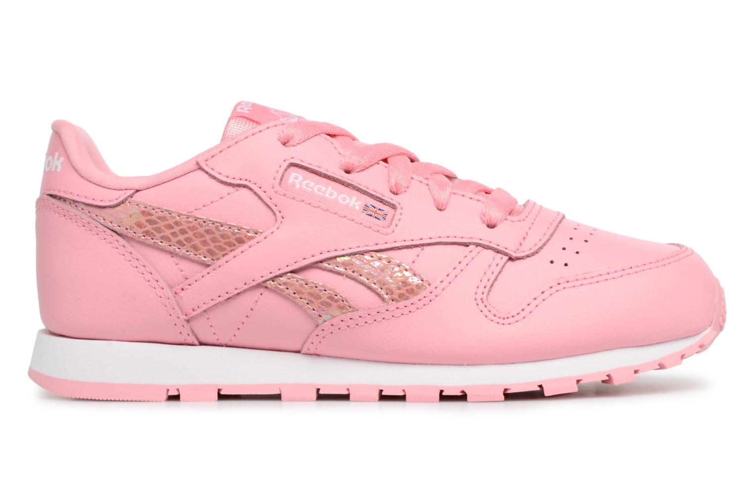 Sneakers Reebok Cl Leather Spring Rosa immagine posteriore