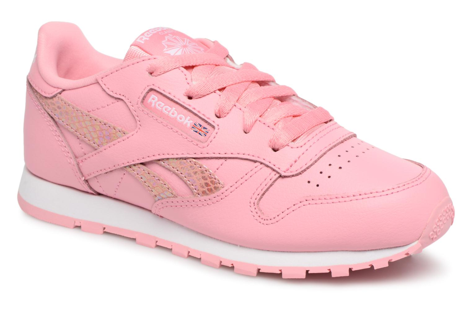 Cl Leather Spring Pink/White