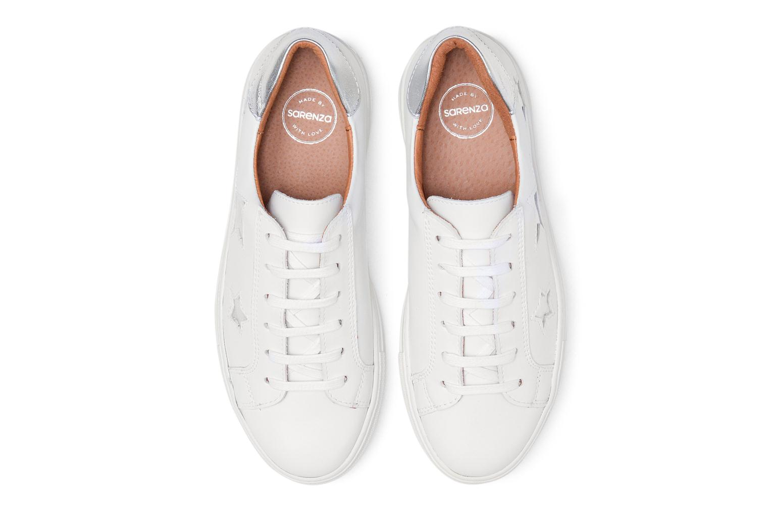 Fluo Girls Cuir Lisse Baskets Rose Made Blanc By Gang Sarenza 90s LSUzMjVGpq