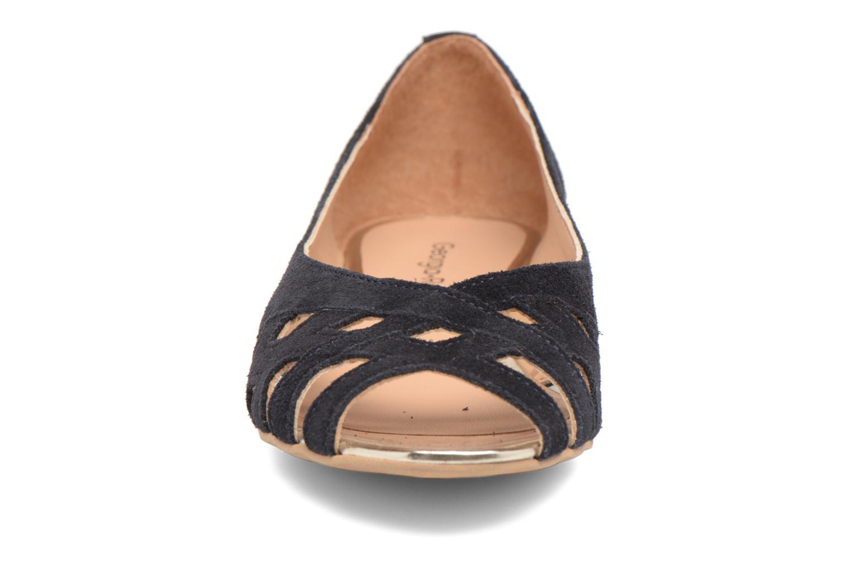 Ballerines Georgia Rose Cordou Bleu vue portées chaussures