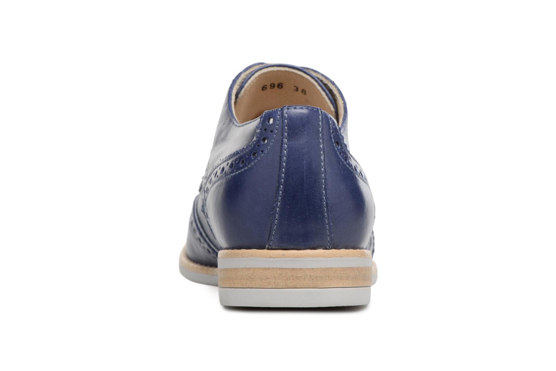 Chaussures à lacets Georgia Rose Nissa Bleu vue droite