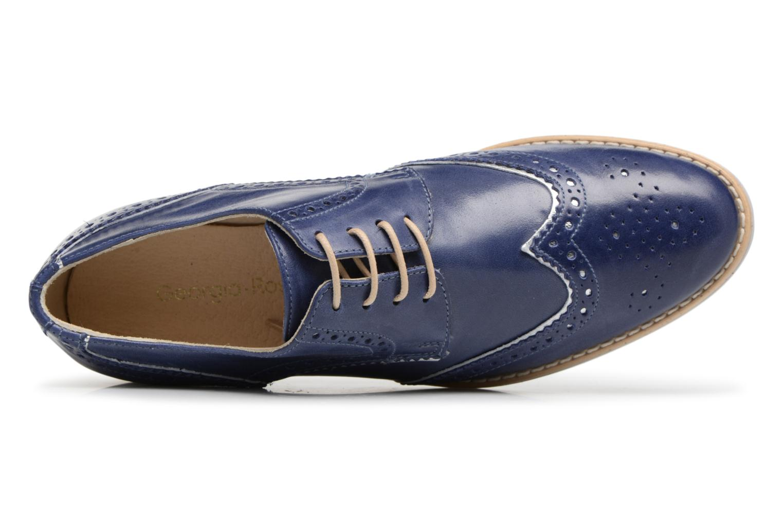 Chaussures à lacets Georgia Rose Nissa Bleu vue gauche