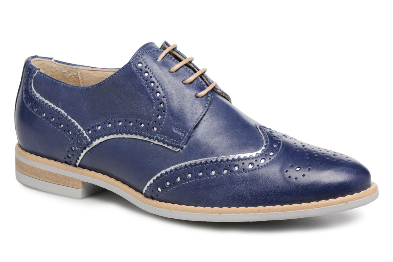 Chaussures à lacets Georgia Rose Nissa Bleu vue détail/paire