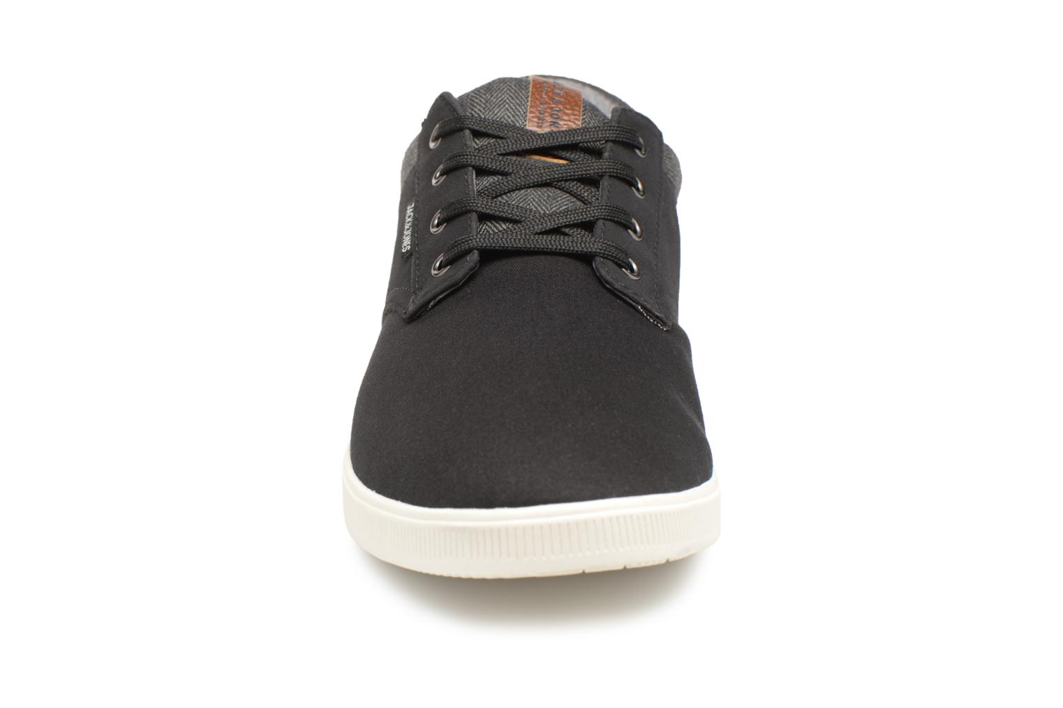 Baskets Jack & Jones JFW Gaston Canvas Mix Noir vue portées chaussures