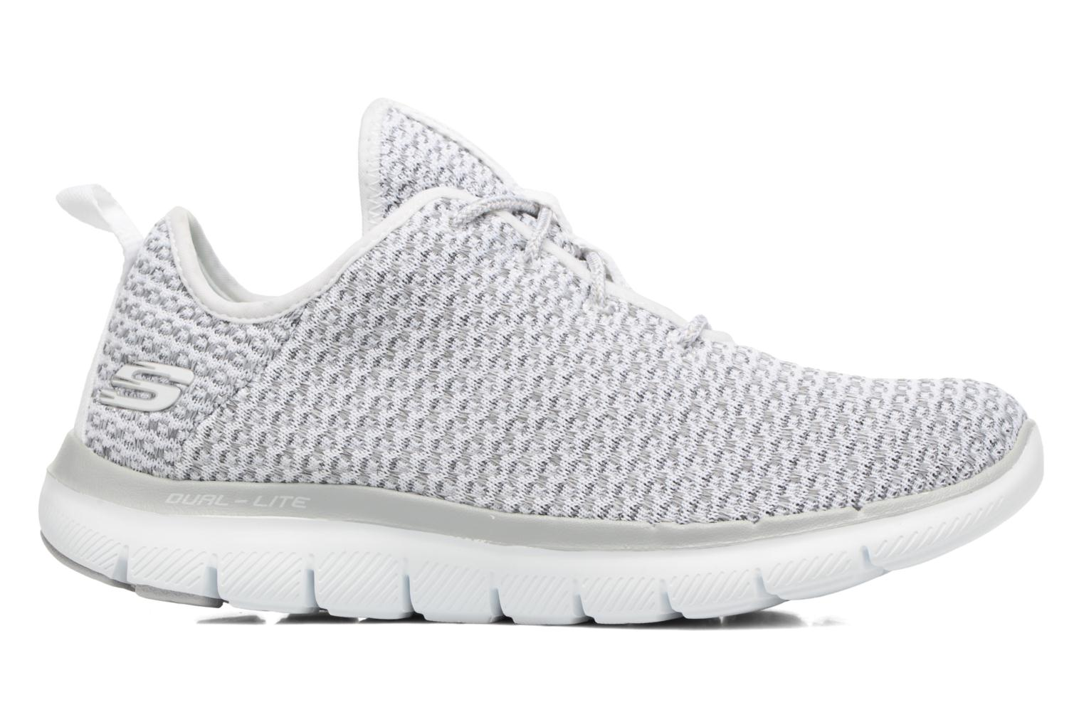 Sport shoes Skechers Flex Appeal 2.0-Bold Move Grey back view