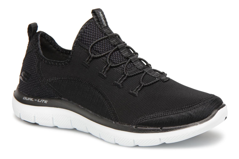 Sportssko Skechers Flex Appeal 2.0-Mixed Media Sort detaljeret billede af skoene