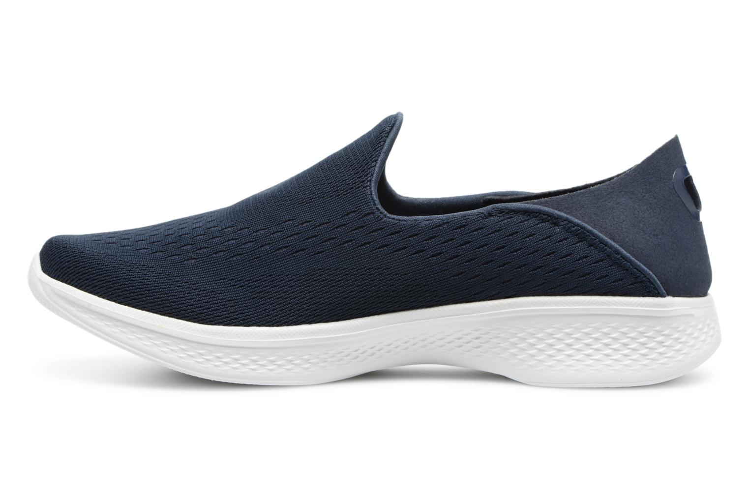 Trainers Skechers Go Walk 4-Convertible Blue front view