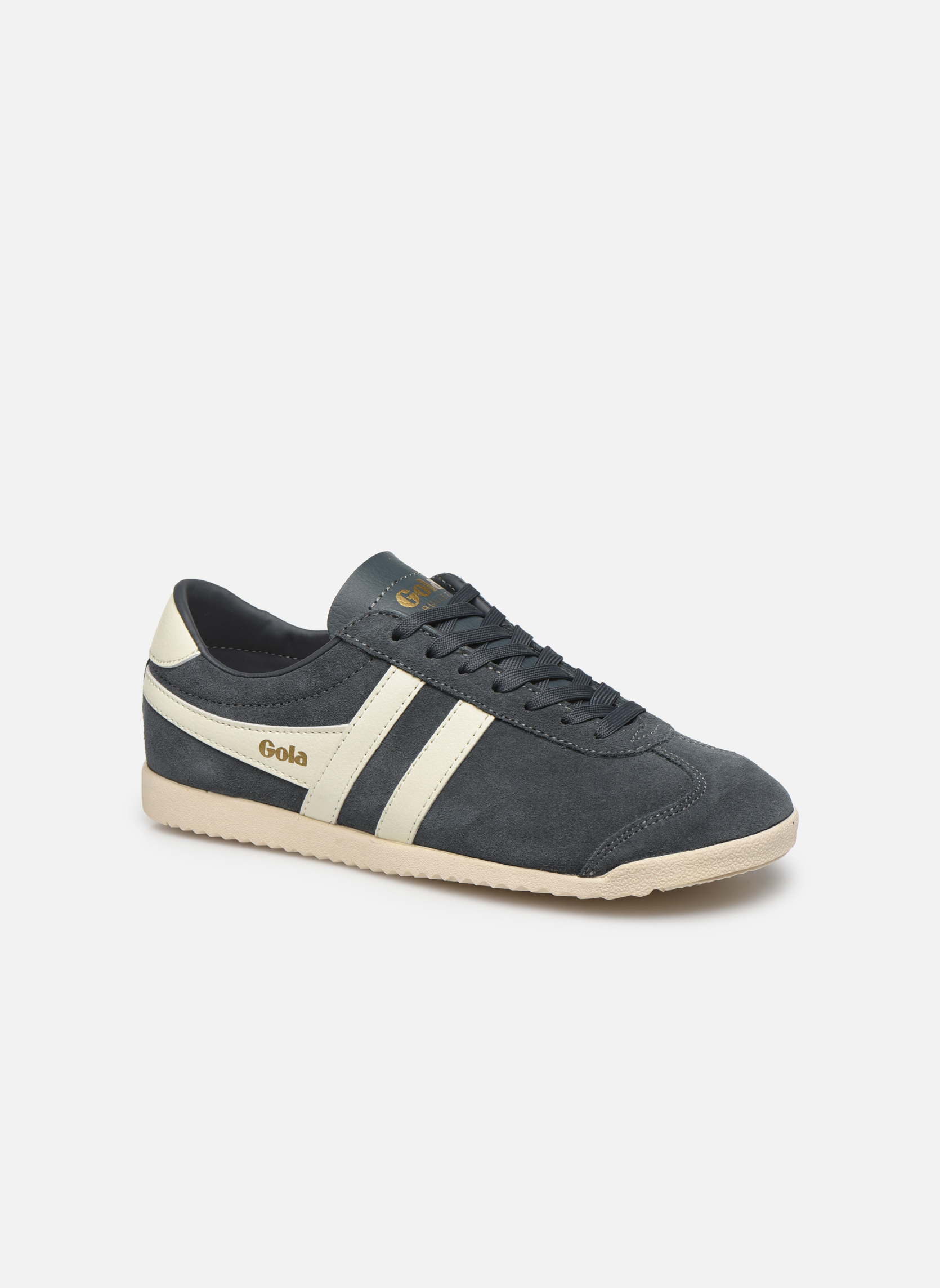 GRAPHITE/OFF WHITE Gola BULLET SUEDE (Gris)