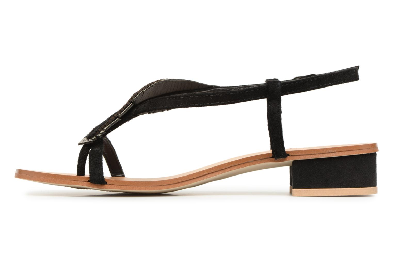 Sandales et nu-pieds Georgia Rose Mifeuilla Noir vue face