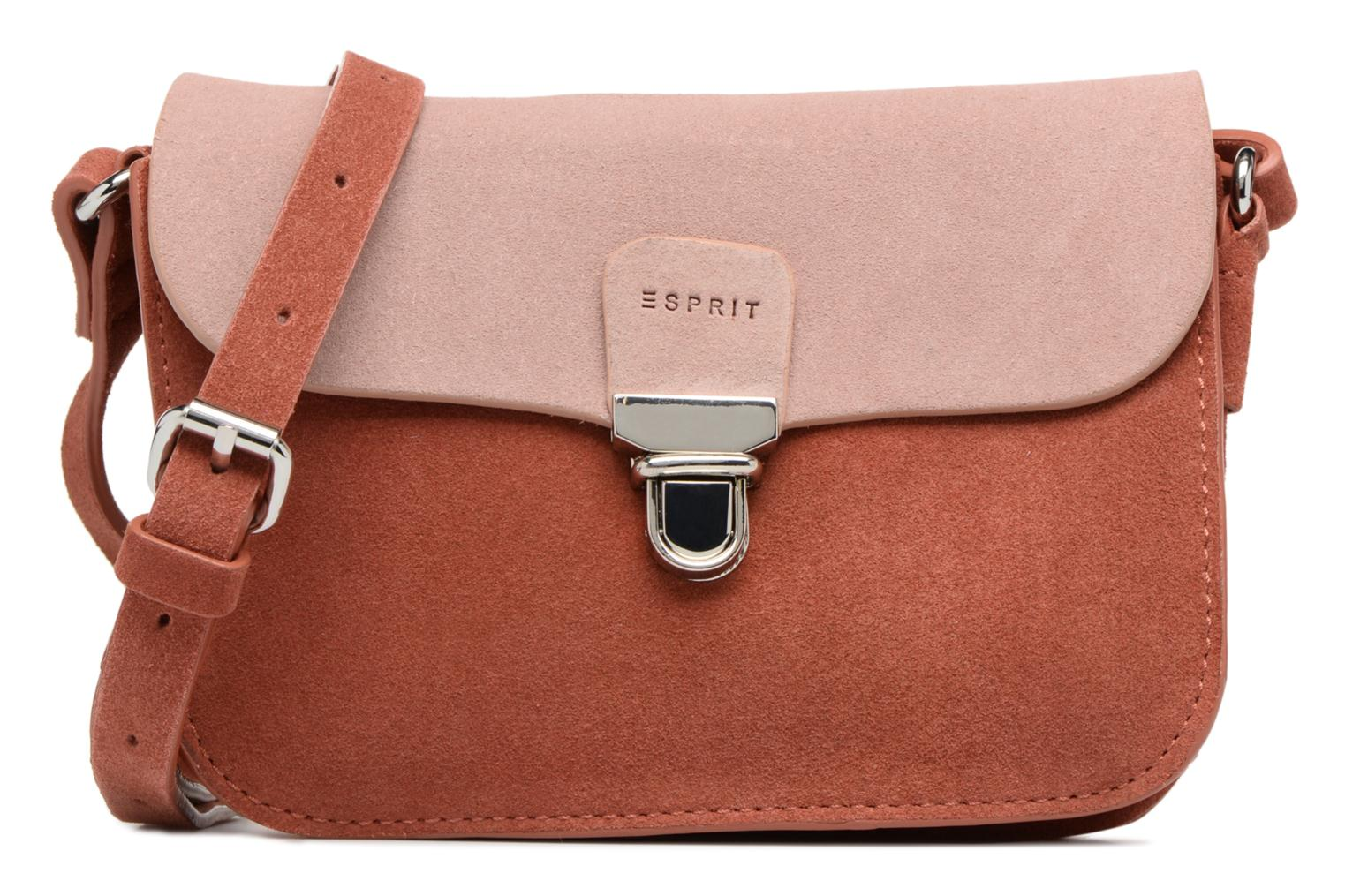 Handbags Esprit Bea Suede Small Shoulder Bag Brown detailed view/ Pair view