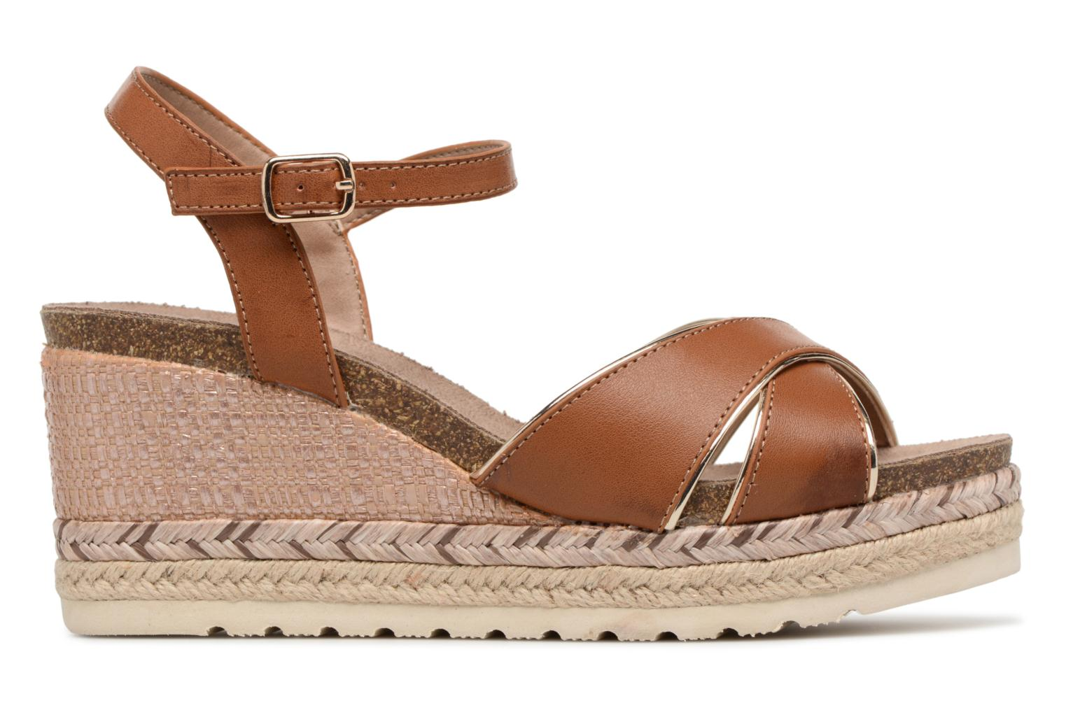 Sandals Refresh Wuge Brown back view