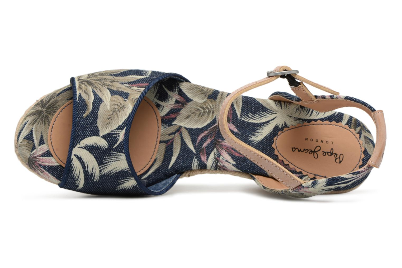 Espadrilles Pepe jeans Shark California Bleu vue gauche
