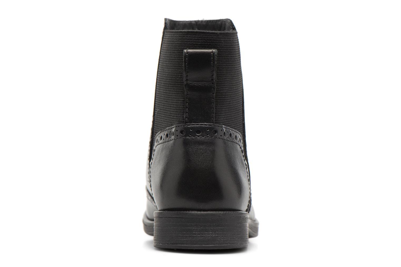 Boots en enkellaarsjes Geox JR Agata A J6449A Zwart rechts