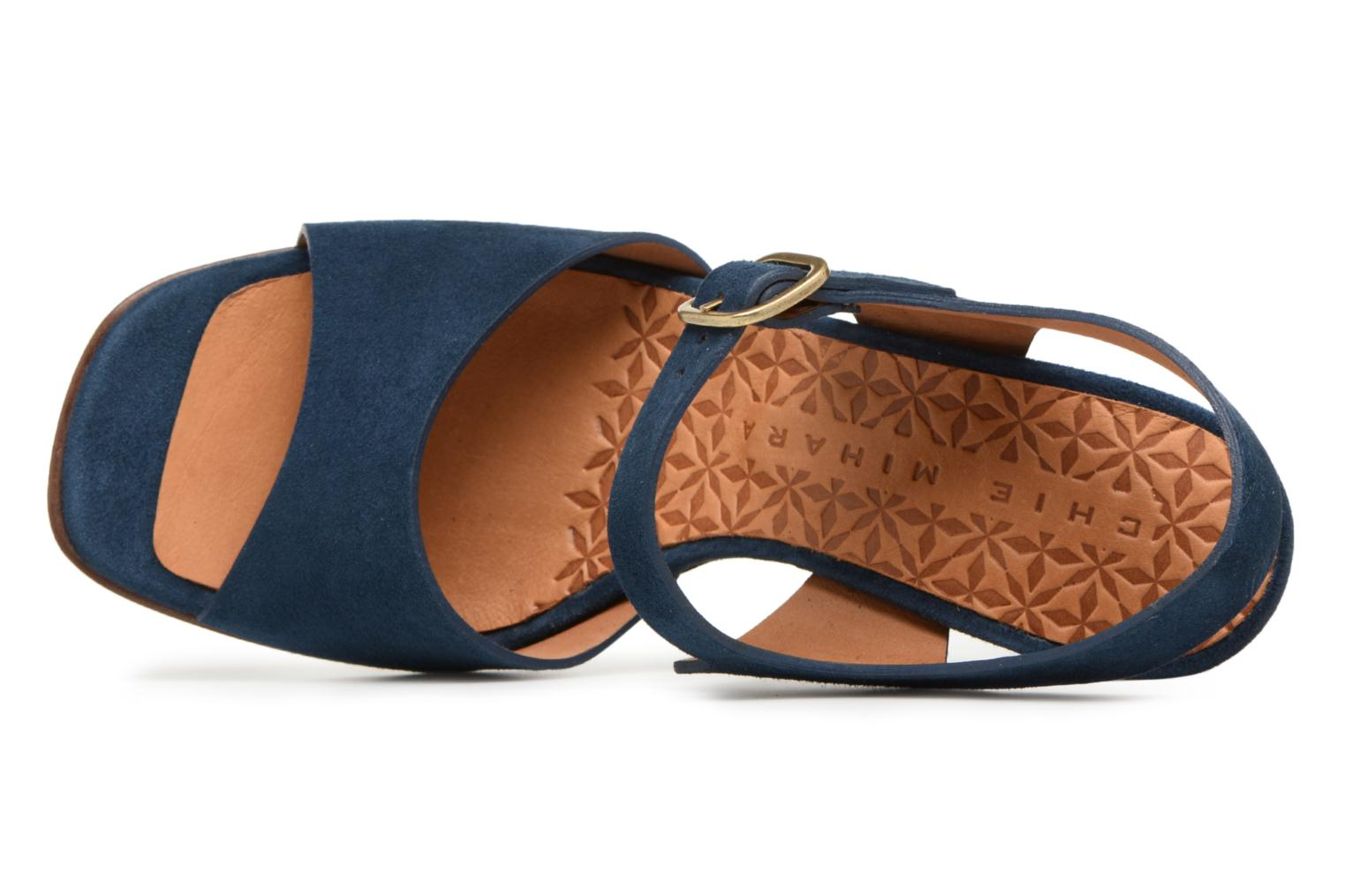 Sandals Chie Mihara Chuli32 Blue view from the left