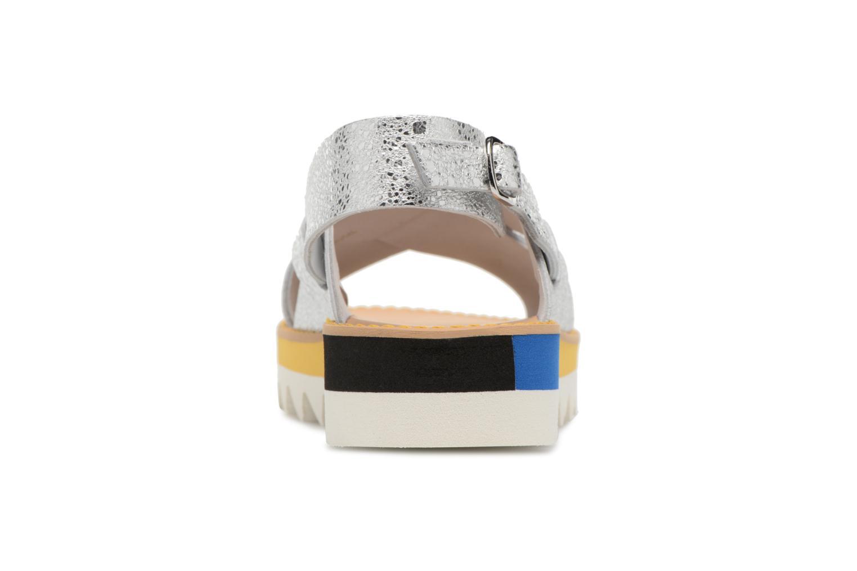Sandales et nu-pieds COSMOPARIS VAFILI/MET Argent vue droite