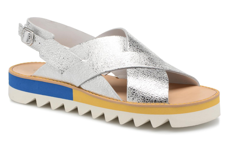 Sandales et nu-pieds COSMOPARIS VAFILI/MET Argent vue détail/paire