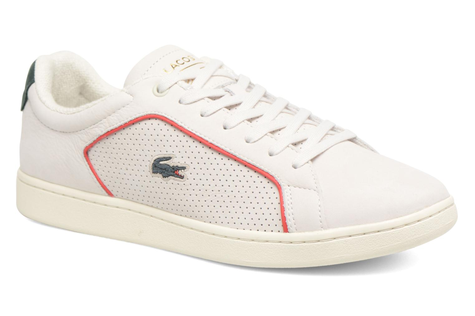 Marques Chaussure homme Lacoste homme CARNABY EVO 118 1 OFF WHT/RED