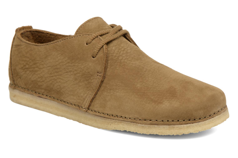Chaussures à lacets Clarks Originals Ashton W Vert vue détail/paire
