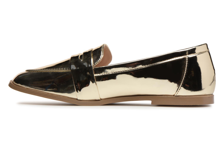 Mocassins I Love Shoes Bepola Or et bronze vue face