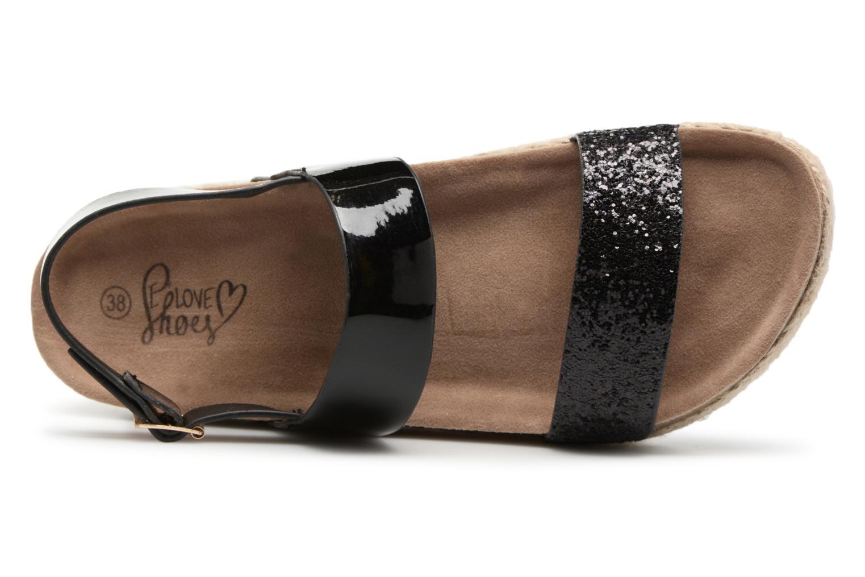 Sandales et nu-pieds I Love Shoes Benino Noir vue gauche