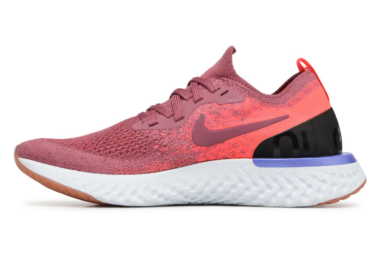 Chaussures de sport Nike Wmns Nike Epic React Flyknit Rouge vue face