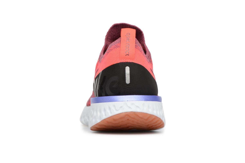 Chaussures de sport Nike Wmns Nike Epic React Flyknit Rouge vue droite