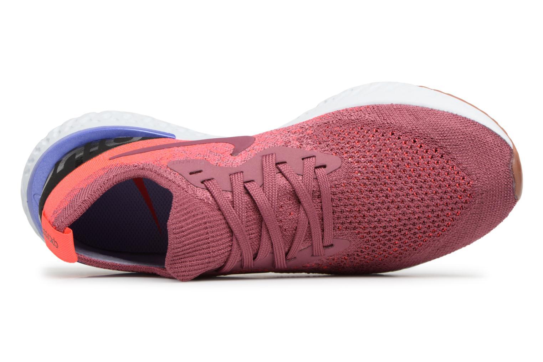 Chaussures de sport Nike Wmns Nike Epic React Flyknit Rouge vue gauche