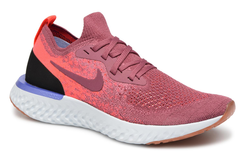 Chaussures de sport Nike Wmns Nike Epic React Flyknit Rouge vue détail/paire