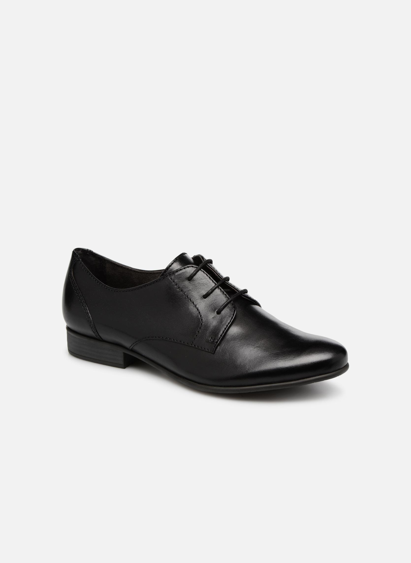 Chaussures à lacets Tamaris Coriandre Noir vue détail/paire