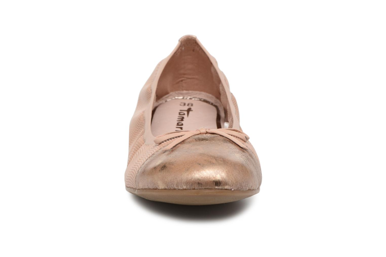 Ballerines Tamaris Epazote Rose vue portées chaussures